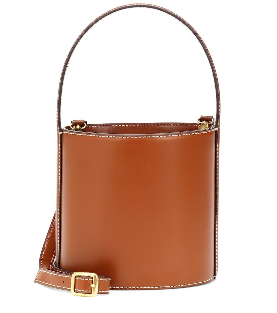 Bissett Leather Bucket Bag in Brown