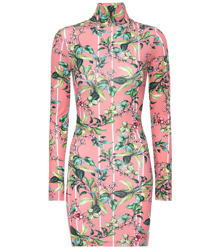 VETEMENTS Floral Print Body-Con Dress in Pink