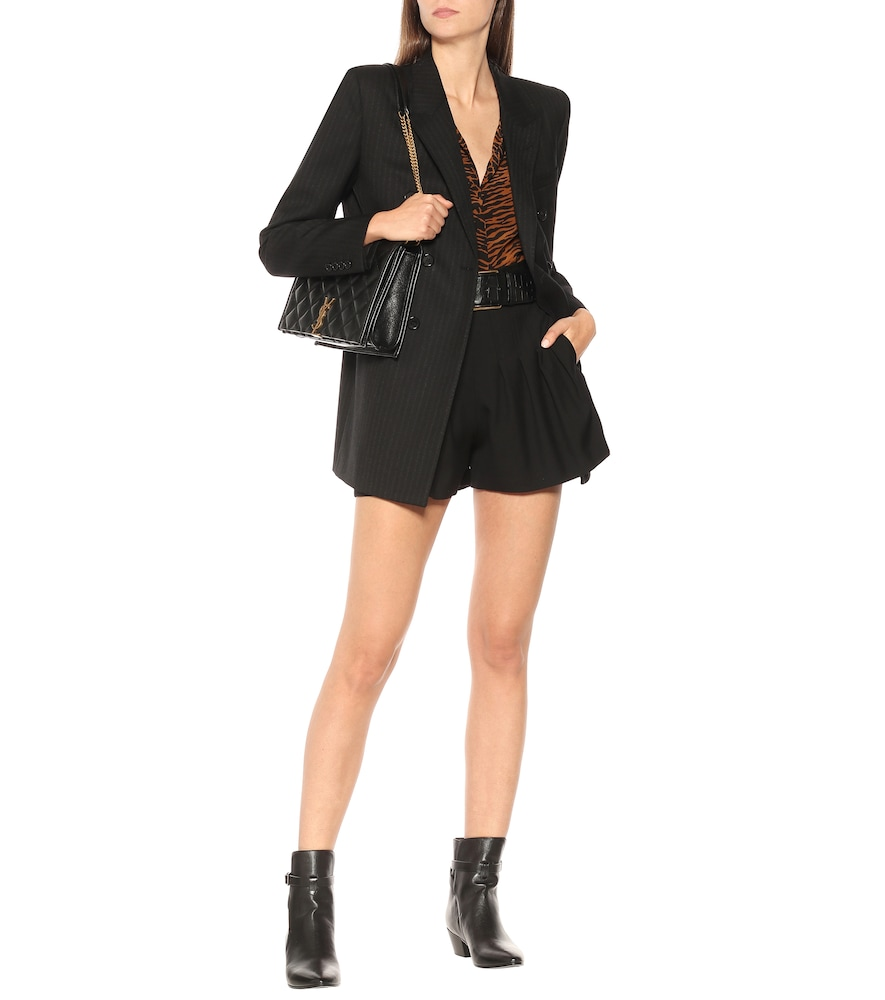 Pinstriped wool double-breasted blazer by Saint Laurent