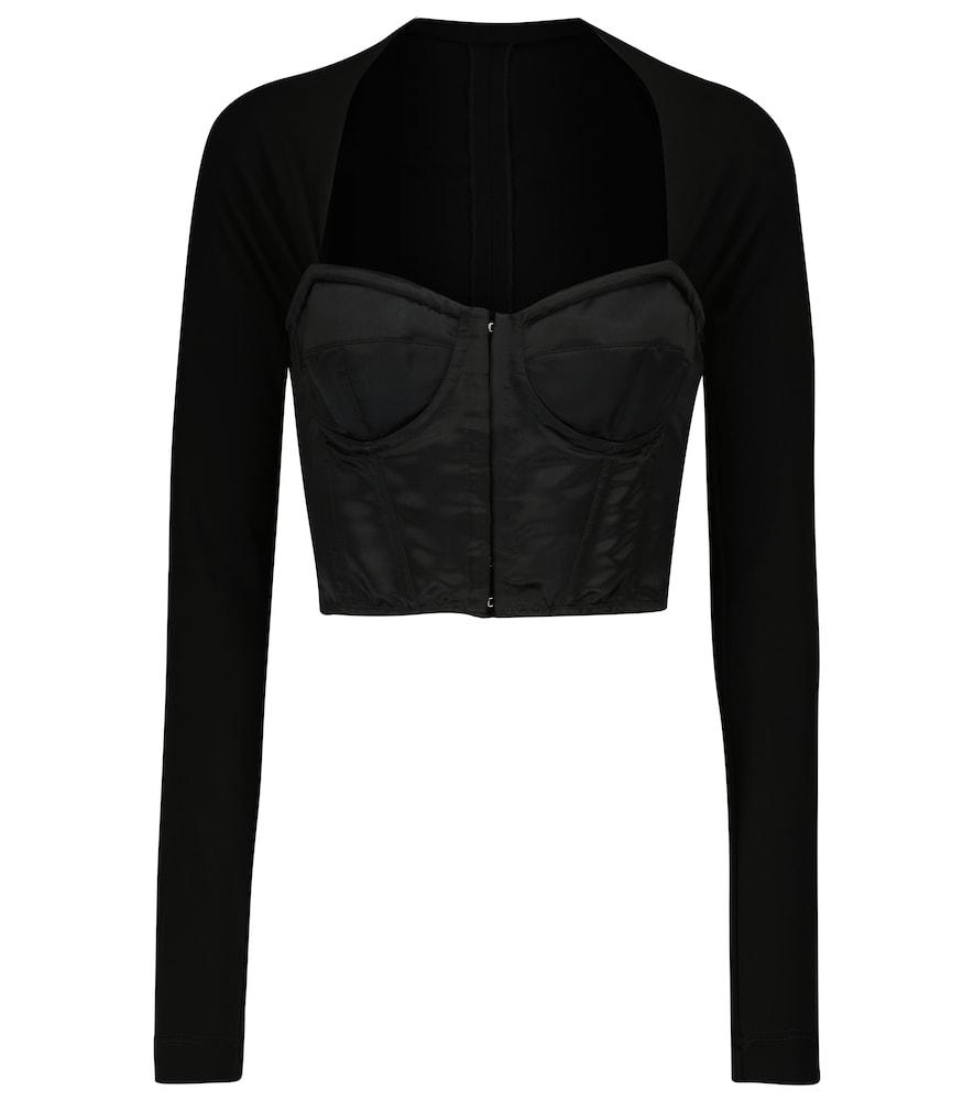 Square-neck corset top