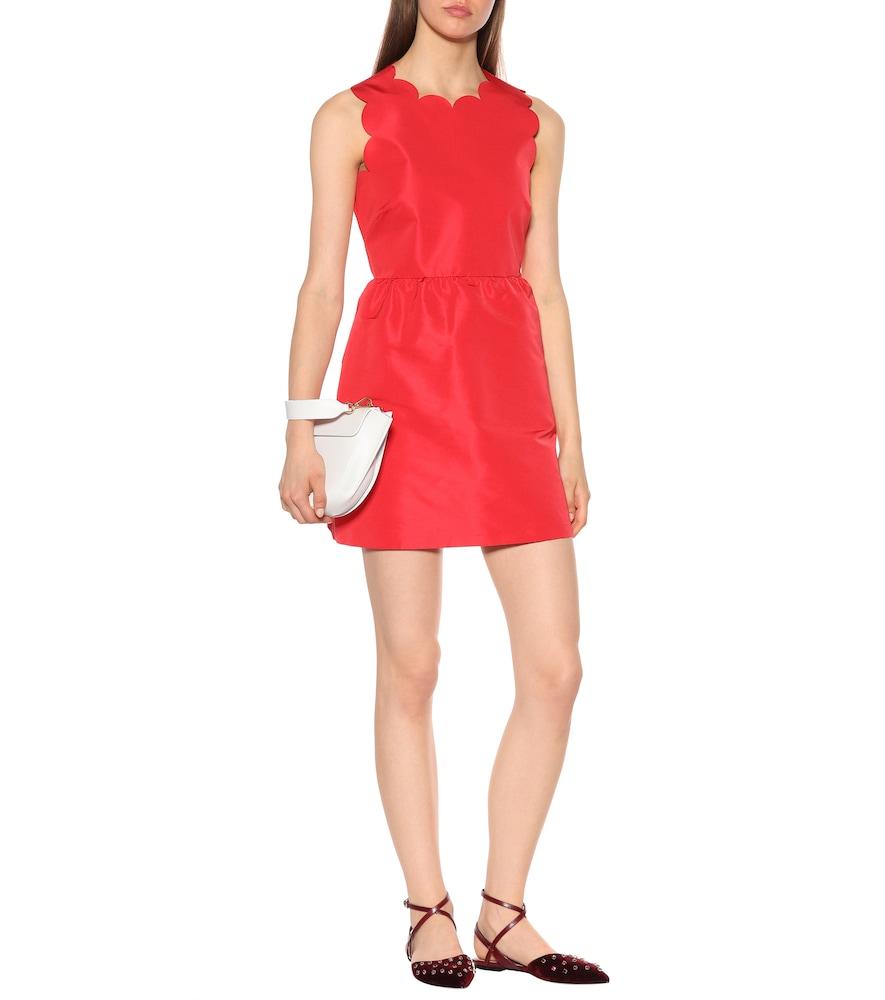 Scalloped satin dress by REDValentino