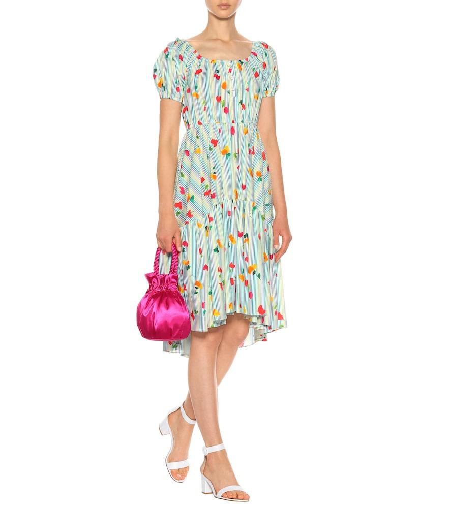 Striped stretch cotton dress by Caroline Constas