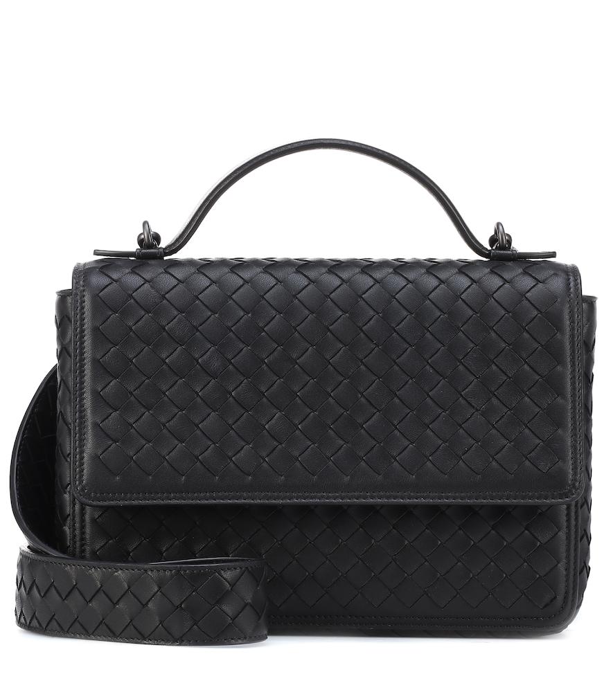 01fded0752 Bottega Veneta Small Olimpia Intrecciato Leather Shoulder Bag In Black