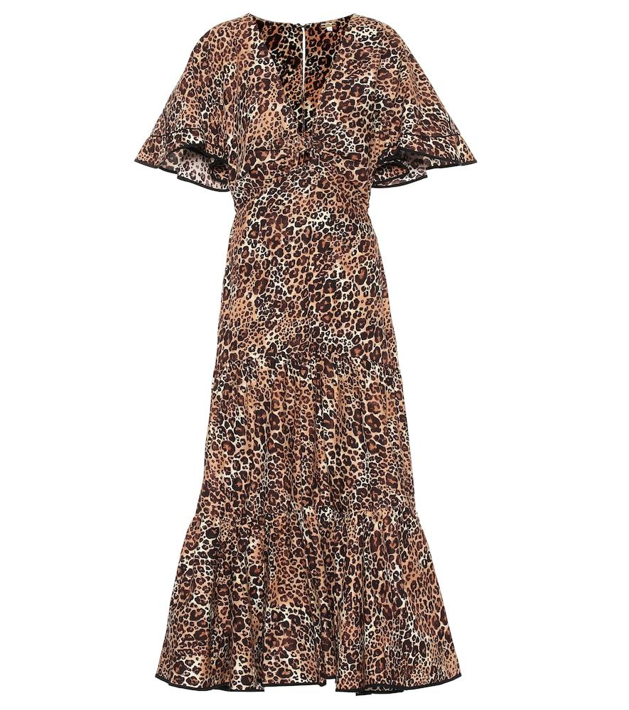 Robe Animal Jewel imprimée en coton et soie