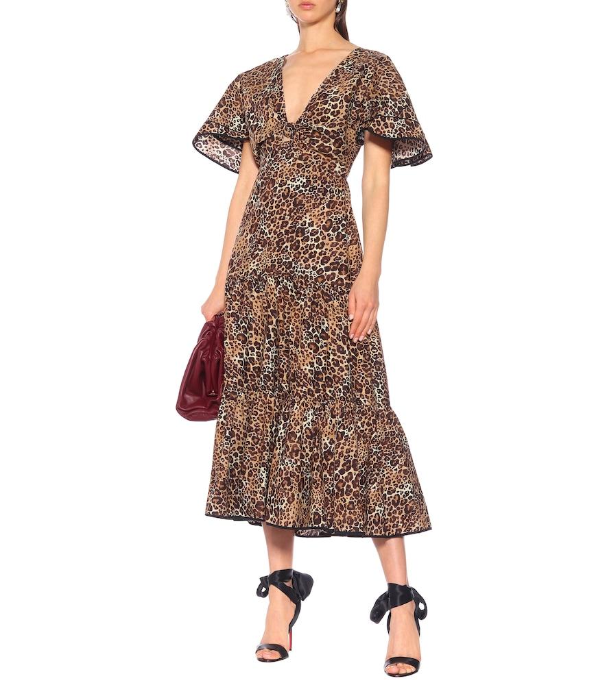 Animal Jewel cotton and silk dress by Johanna Ortiz