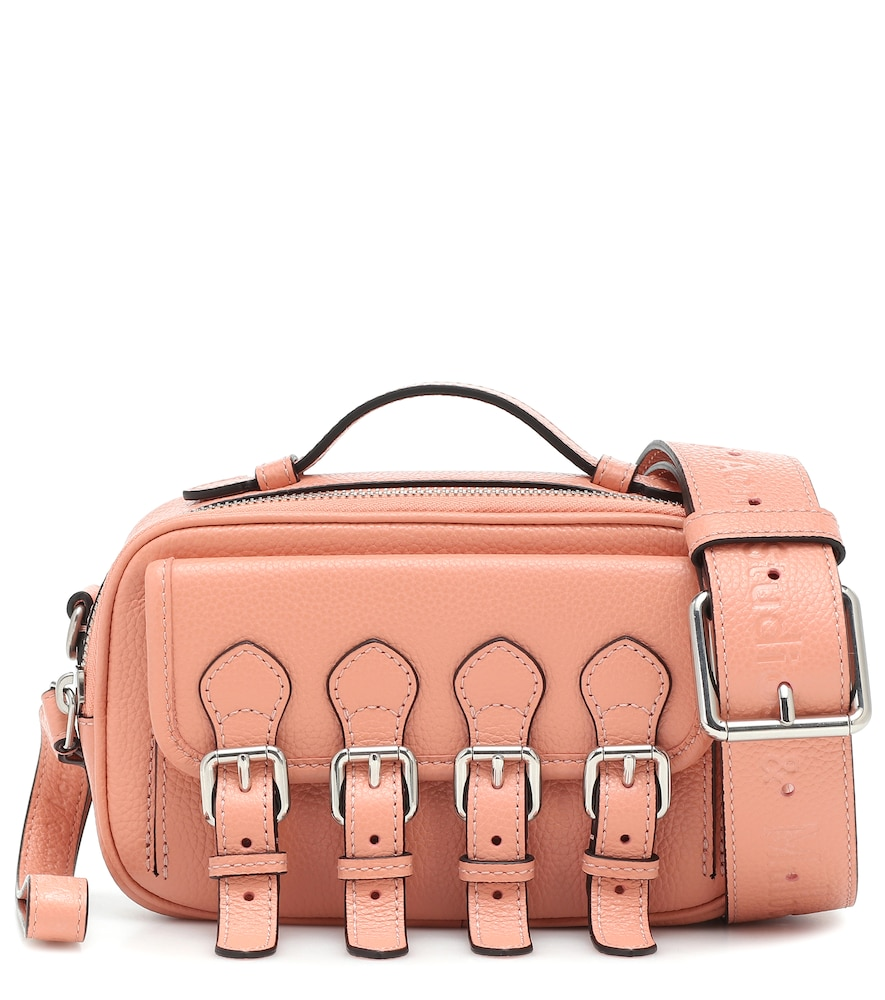 Acne Studios & Mulberry X Mulberry Leather Crossbody Bag In Pink
