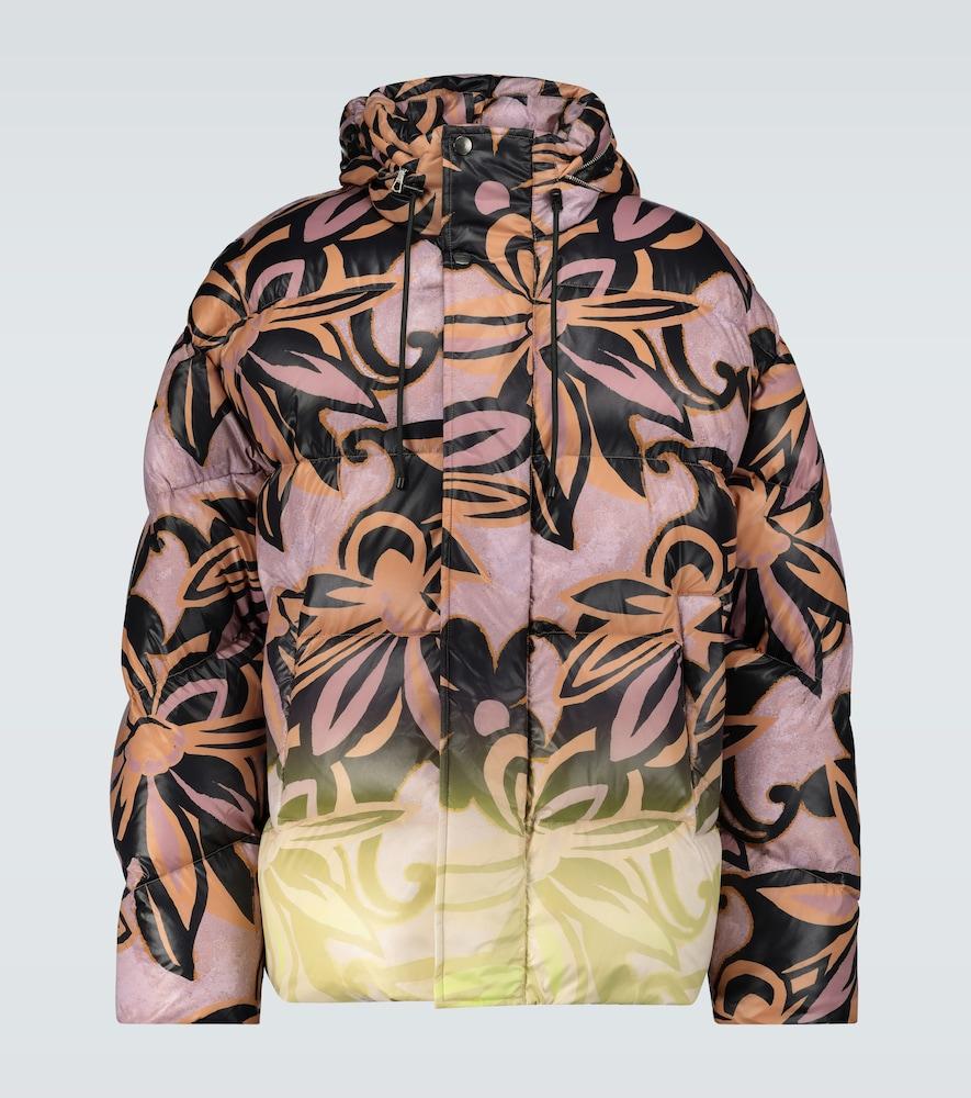 Doudoune à imprimé floral - Dries Van Noten - Modalova
