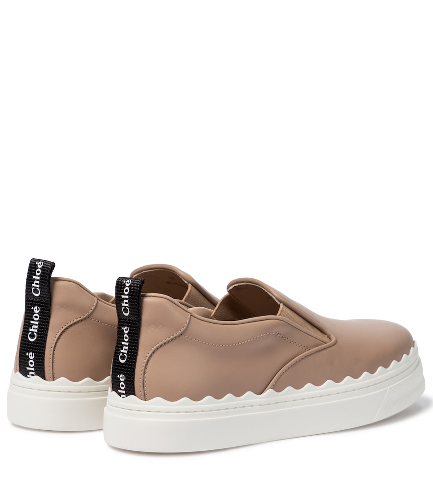 CHLOÉ Leathers LAUREN LEATHER SLIP-ON SNEAKERS