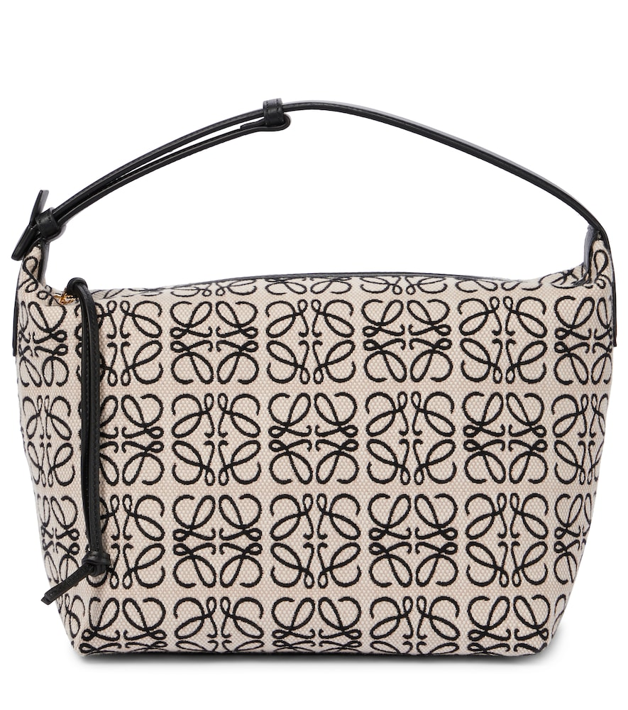 Cubi Anagram leather-trimmed tote