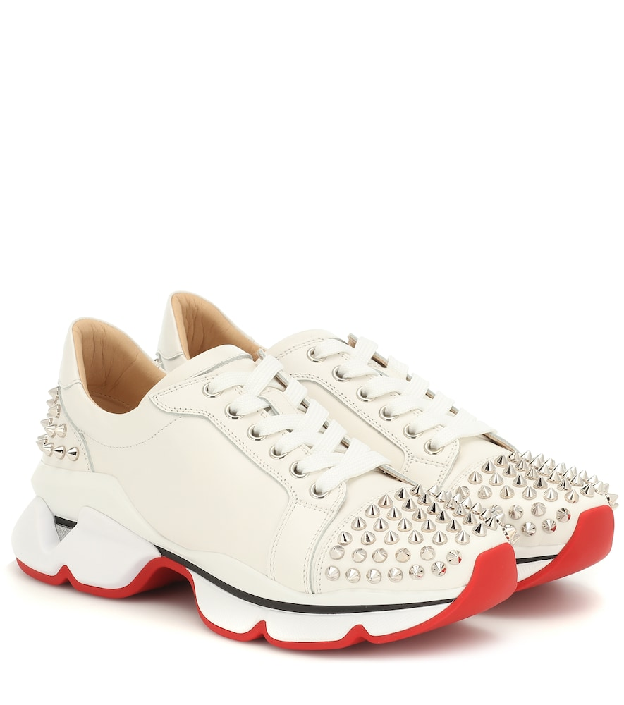 CHRISTIAN LOUBOUTIN | VRS 2018 Studded Leather Sneakers | Goxip