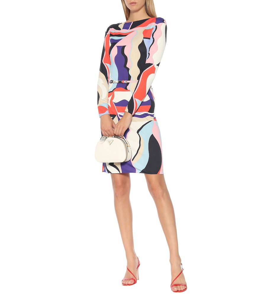 Printed silk-blend jersey dress by Emilio Pucci