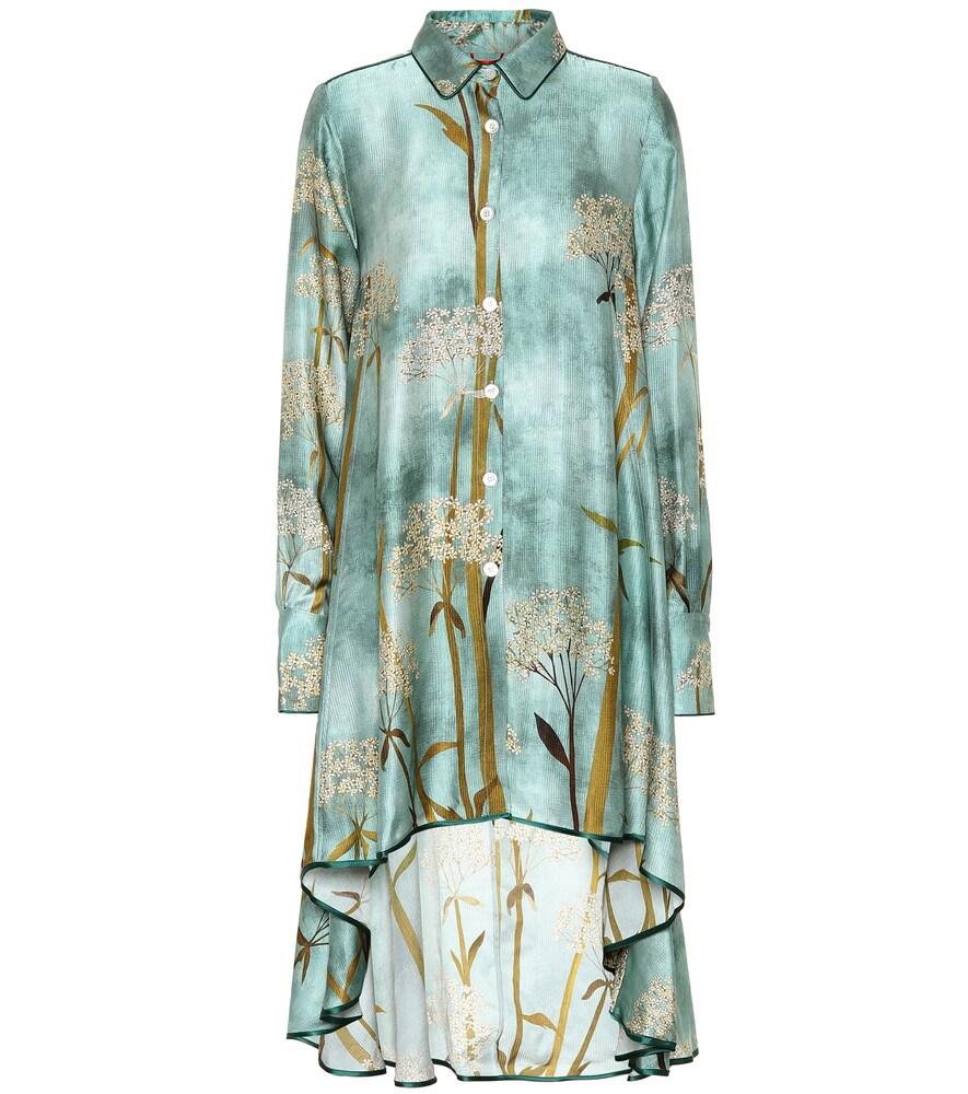 Robe chemise Mercurio imprimée en satin