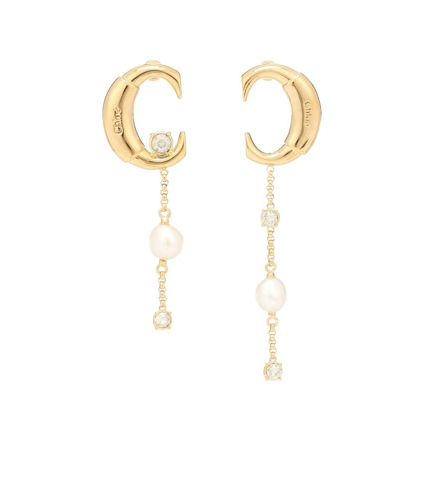 Boucles d'oreilles Darcey à cristaux Swarovski et perles fantaisie - Chloé - Modalova