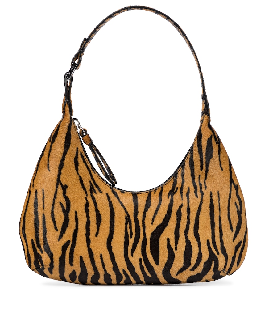 By Far BABY AMBER PONY HAIR SHOULDER BAG