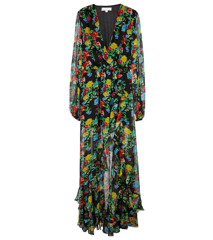 Vivian floral silk chiffon gown