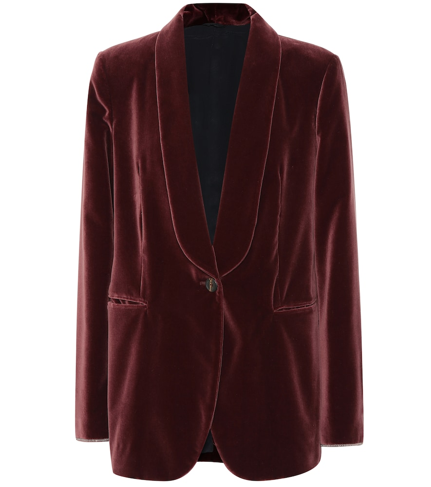 VELVET COTTON BLAZER