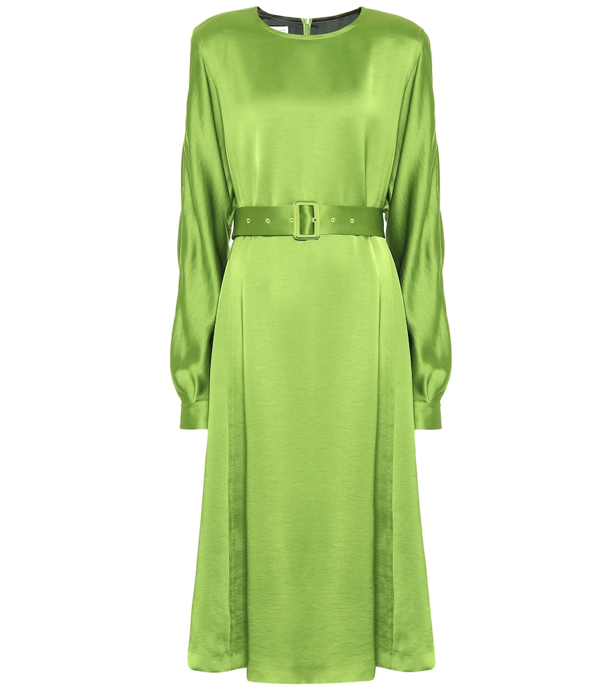 Robe midi en satin - Dries Van Noten - Modalova
