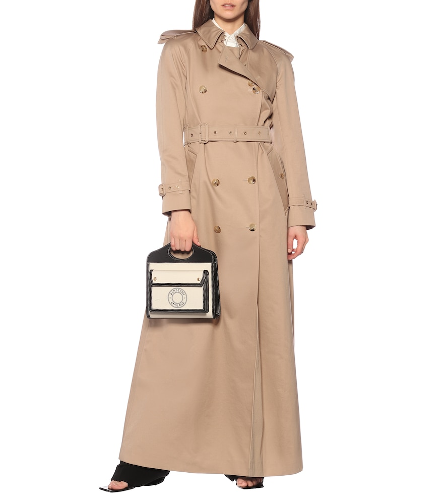 Cotton gabardine trench coat by Burberry