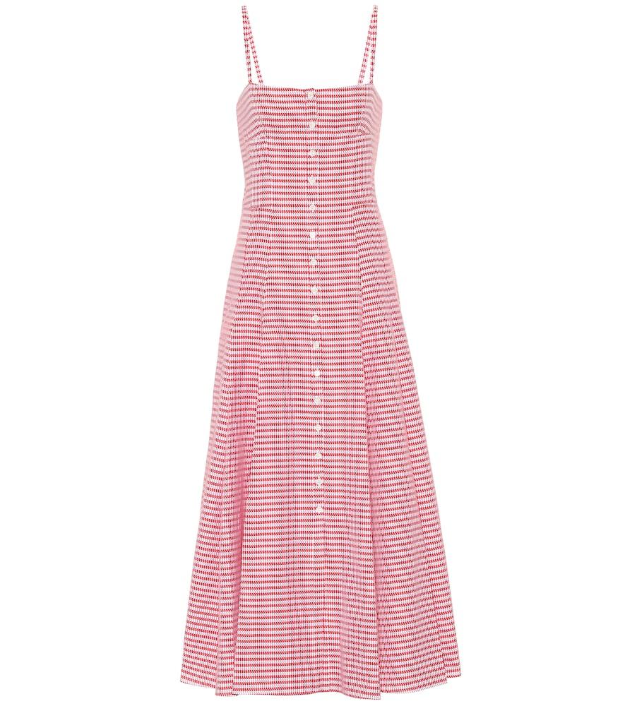 Prudence houndstooth midi dress by Gabriela Hearst