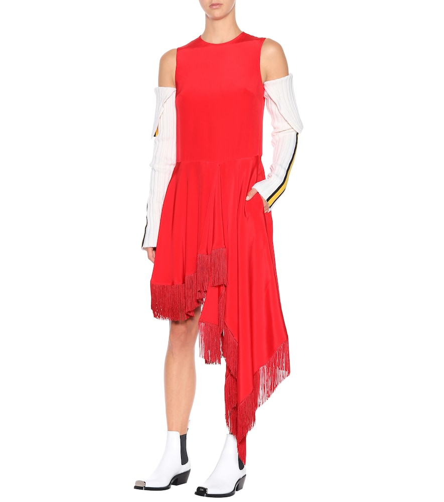 Asymmetric silk satin dress by Calvin Klein 205W39NYC