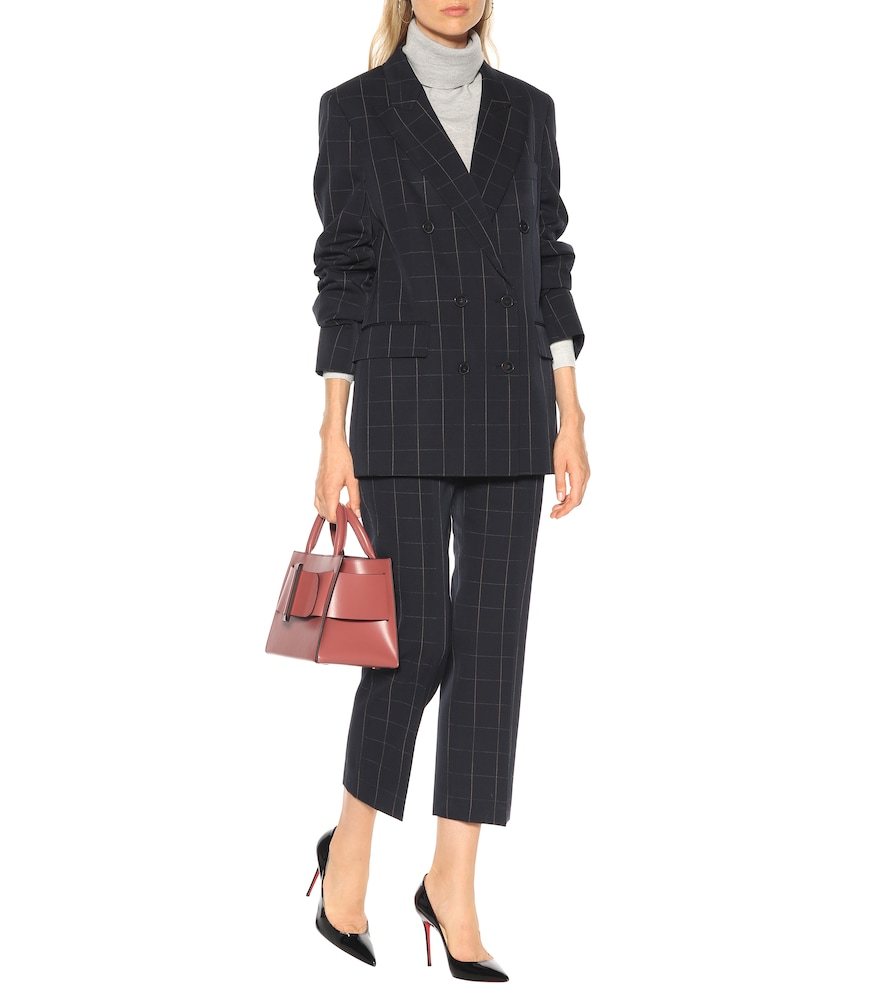 Checked double-breasted wool blazer by Stella McCartney
