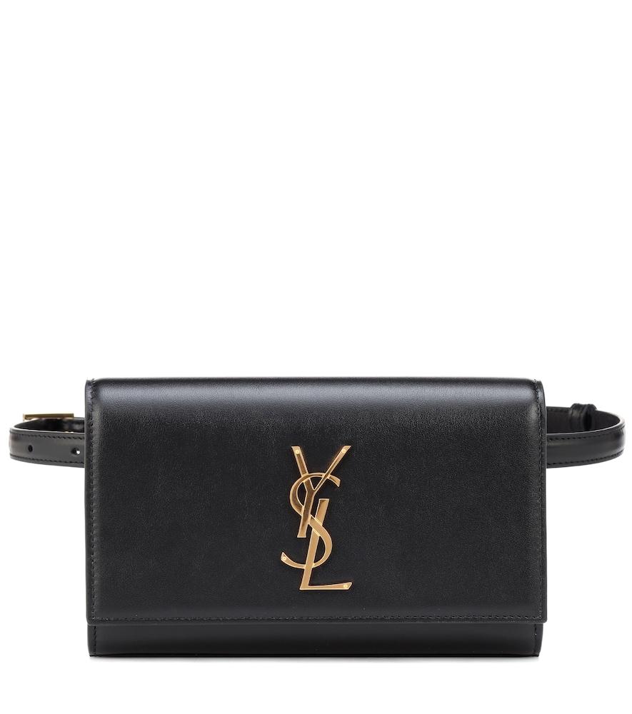 Saint Laurent Kate Monogram Ysl Leather Belt Bag In Black