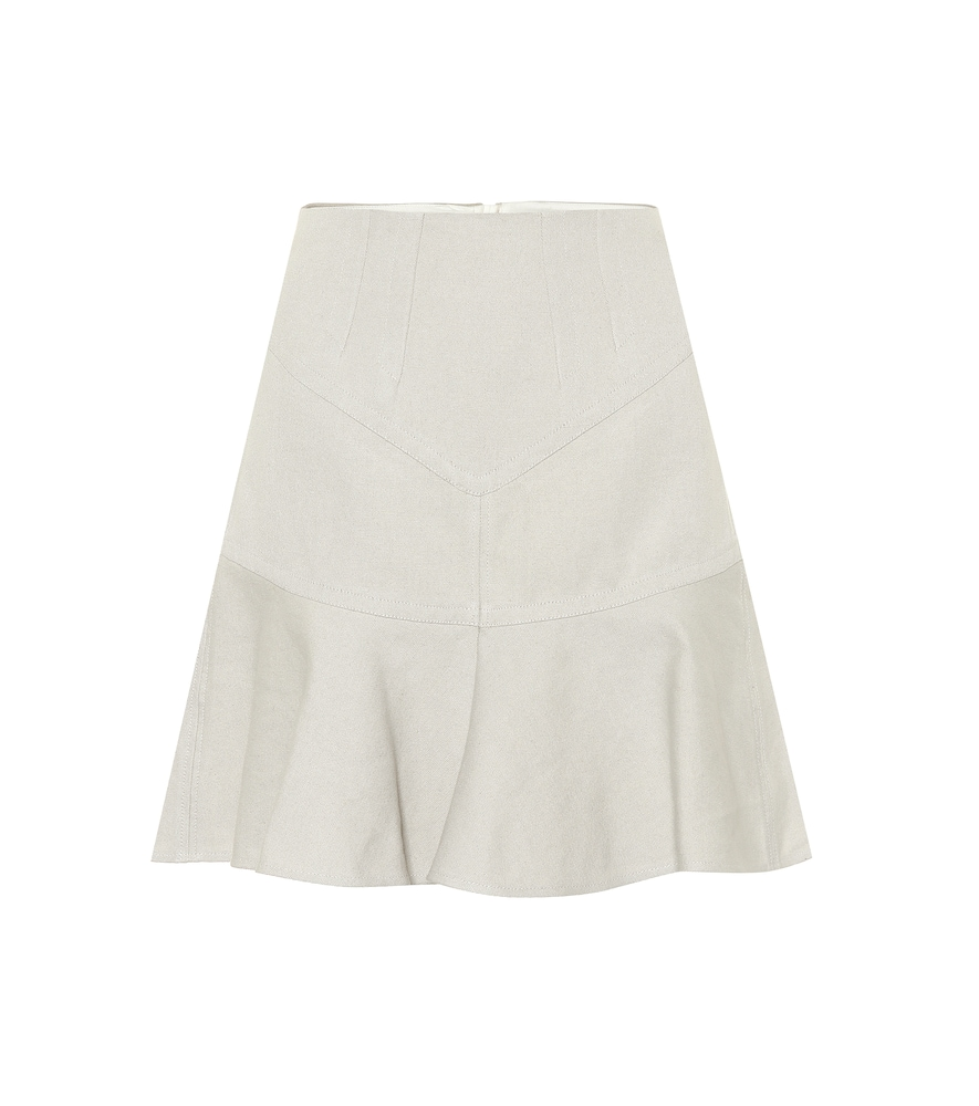 ISABEL MARANT | Kelly cotton and linen skirt | Goxip