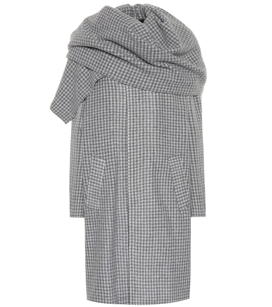Checked wool-blend coat by Balenciaga