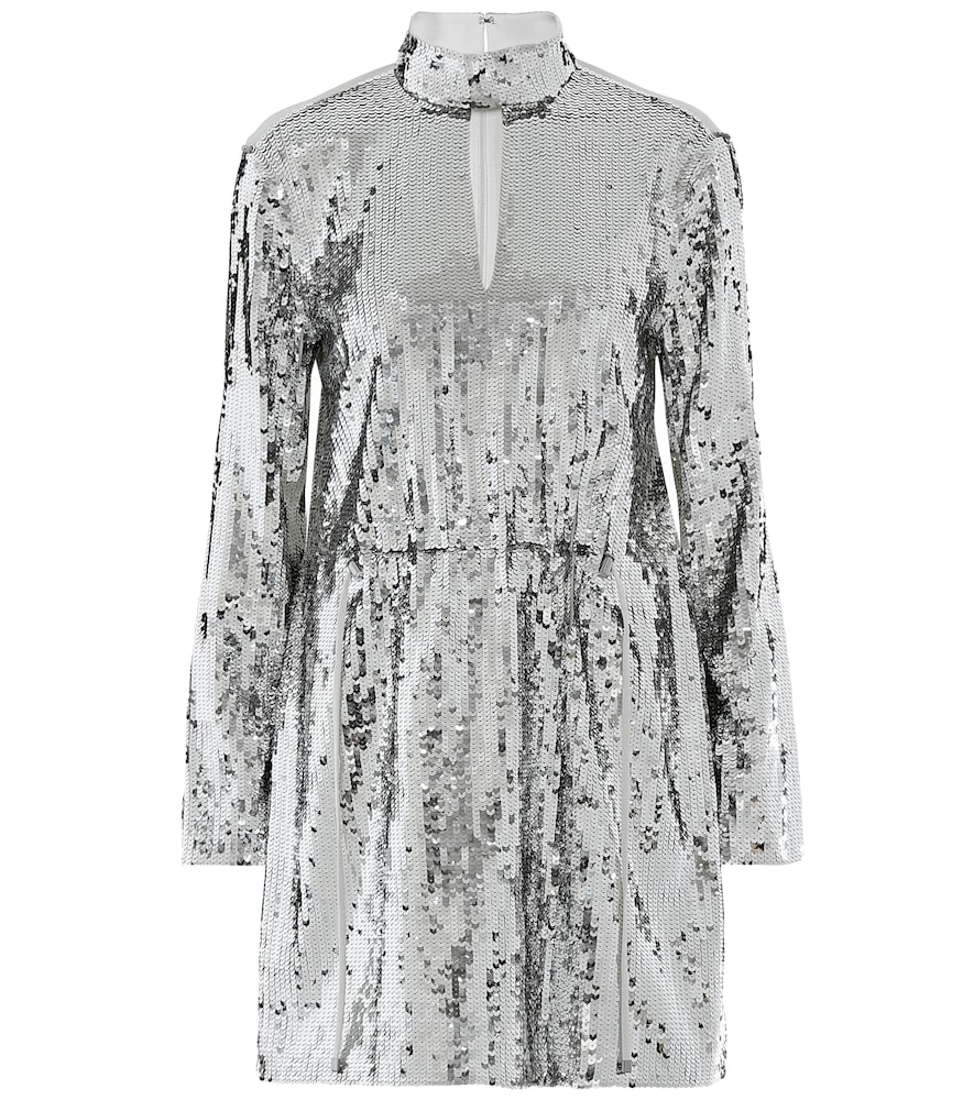 Avril sequined cotton-twill dress by Tibi