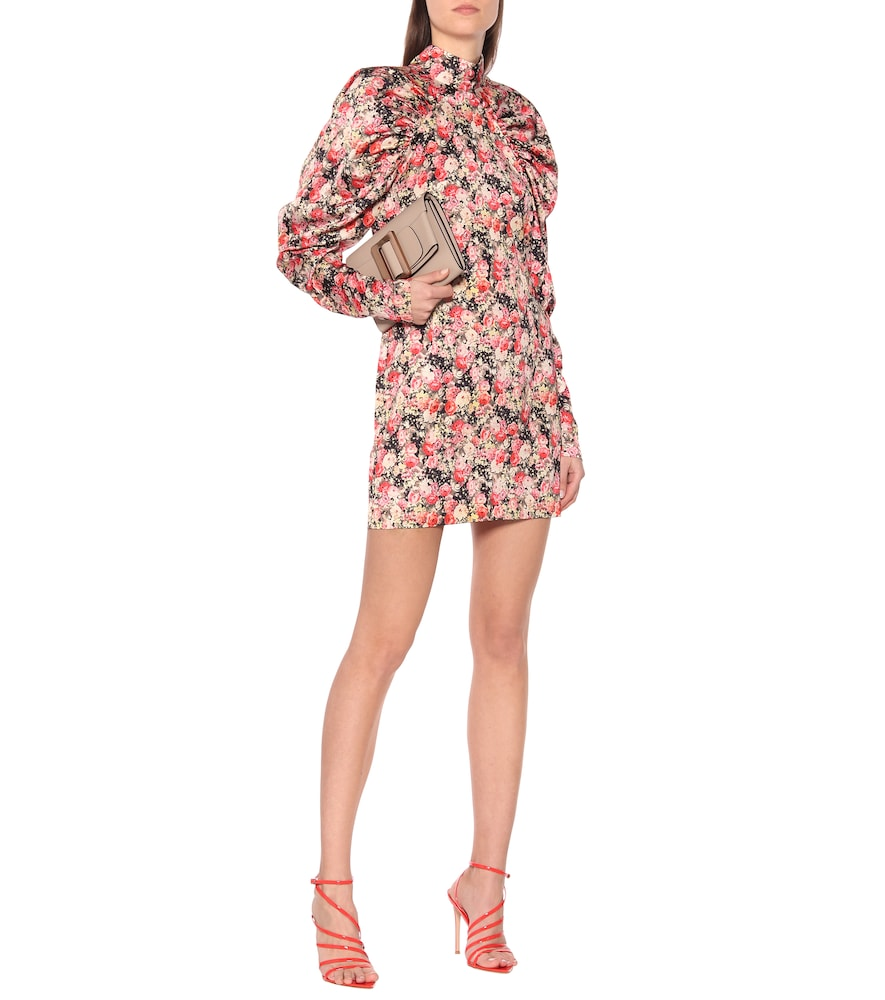 Kim AOP floral satin minidress by ROTATE BIRGER CHRISTENSEN