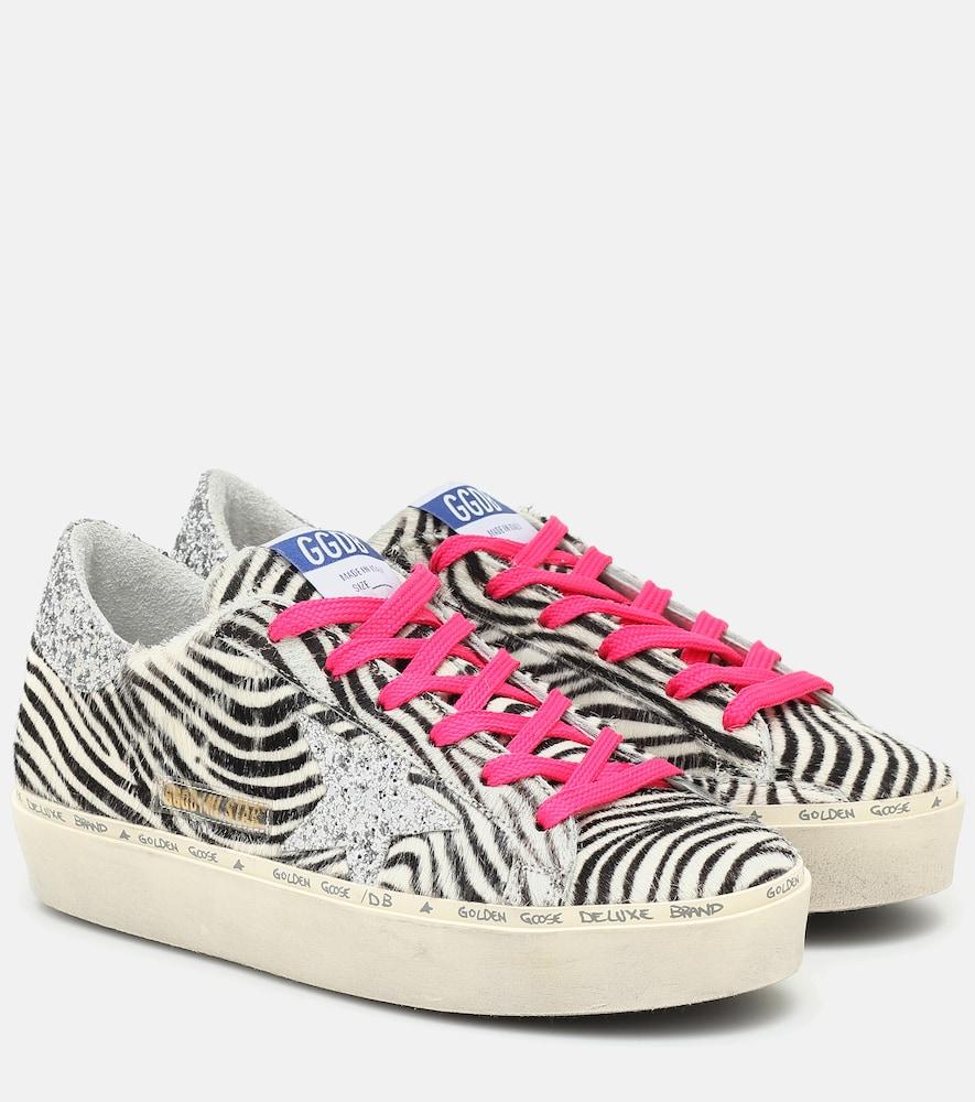 Hi Star calf-hair sneakers