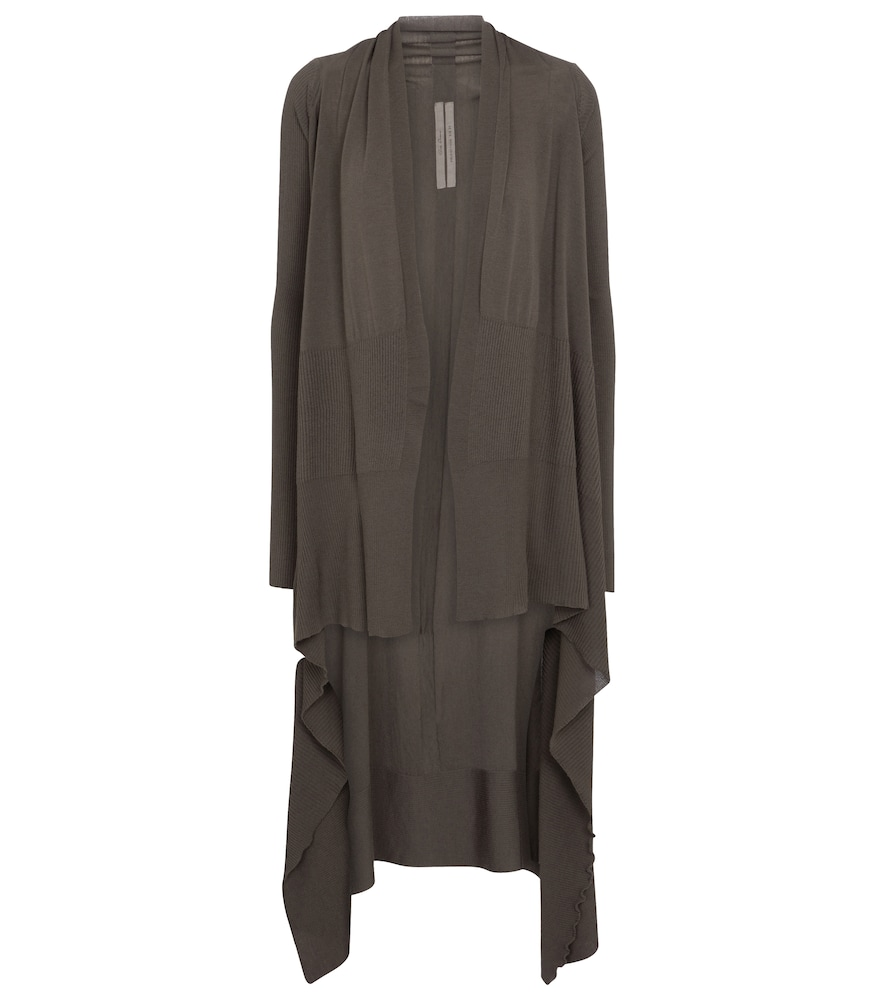 Rick Owens LONG WRAP WOOL CARDIGAN