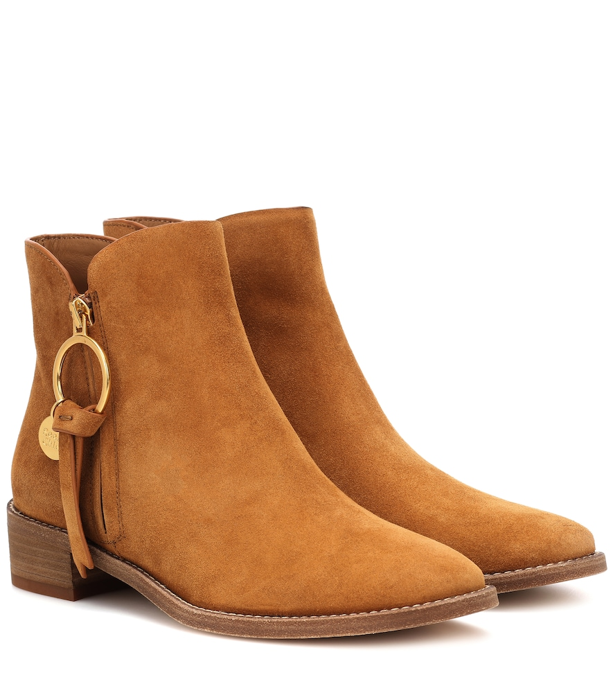 SALVADOR SUEDE ANKLE BOOTS from mytheresa.com