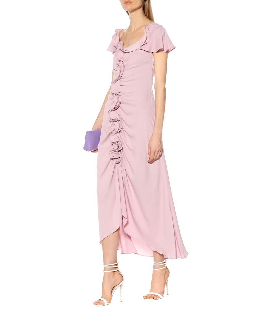 Ruffled silk-blend midi dress by Sies Marjan