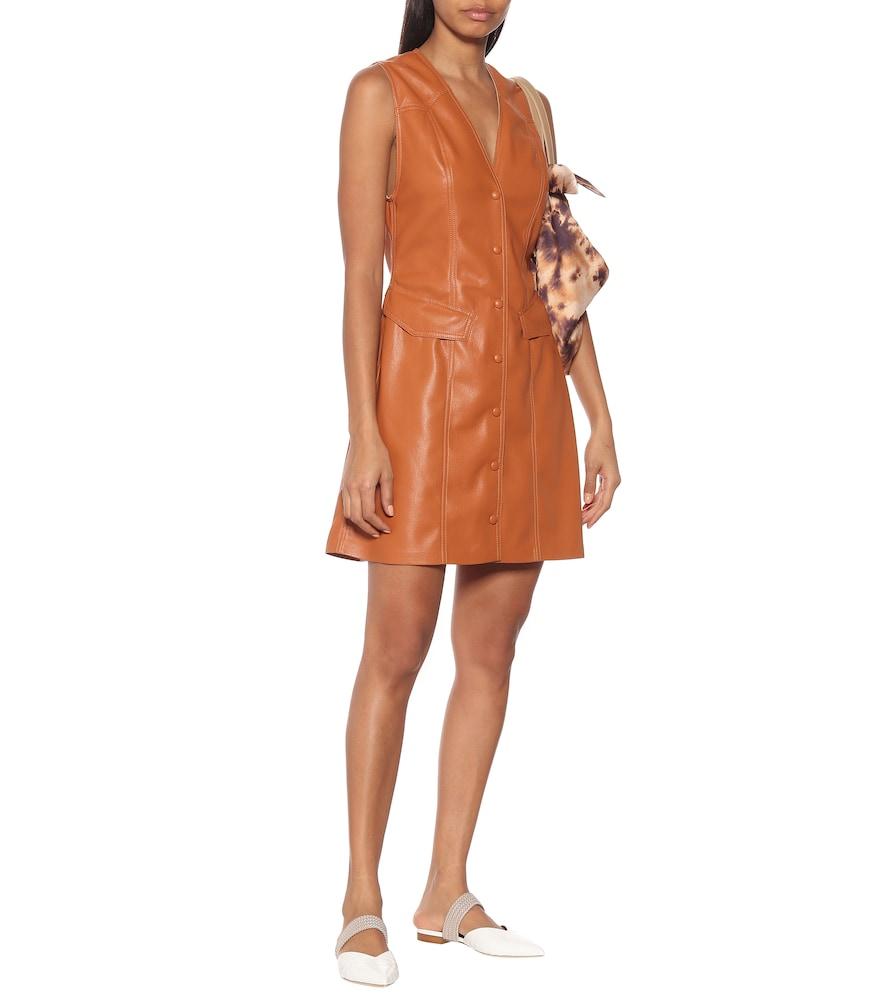 Menphi faux-leather dress by Nanushka