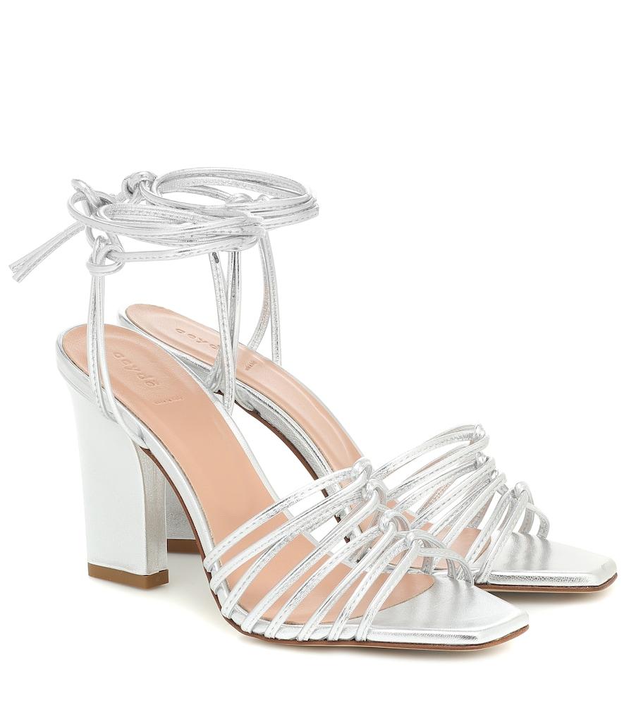 Sandales Daisy en cuir métallisé