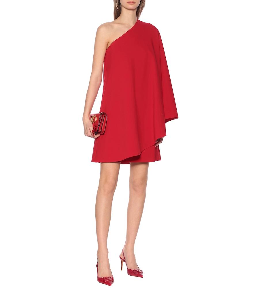 Stretch wool-crêpe minidress by Valentino