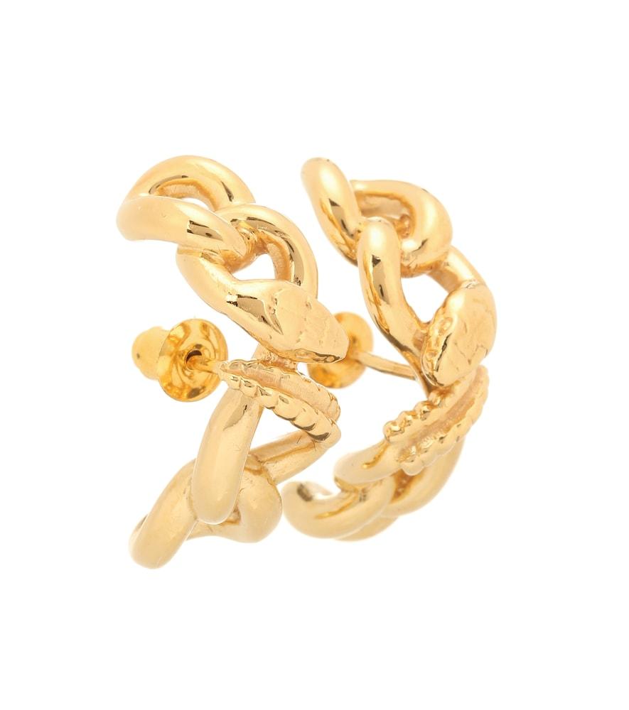 Nashash gold-vermeil earrings