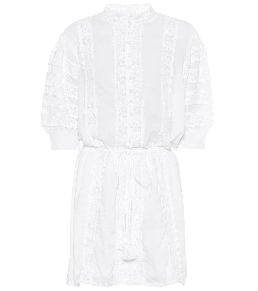 Robe chemise Rita en coton et dentelle - Melissa Odabash - Modalova