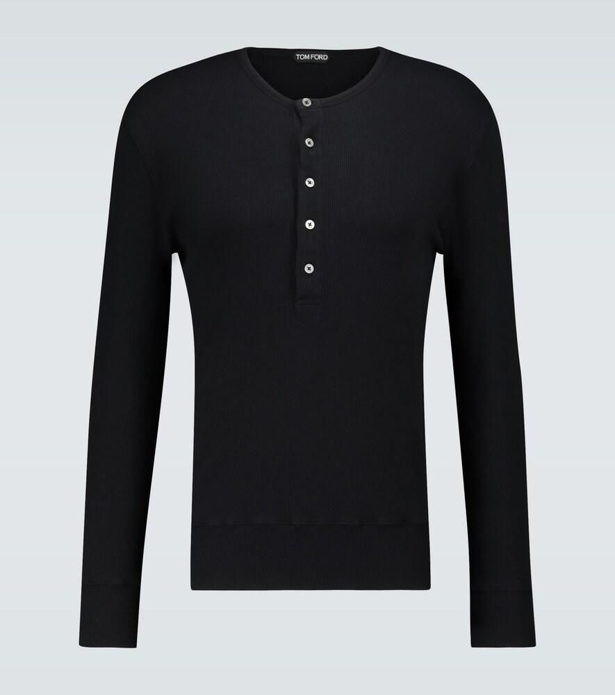 T-shirt Henley à manches longues - Tom Ford - Modalova