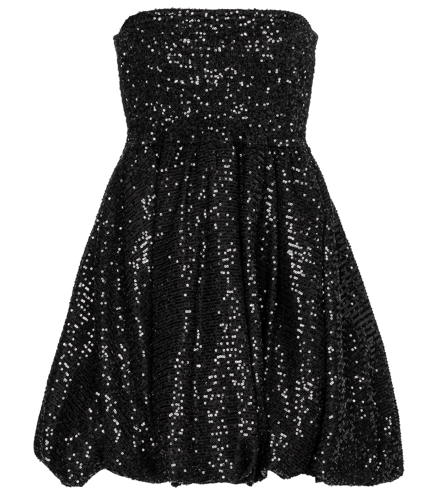 Bianca sequined strapless minidress by Caroline Constas