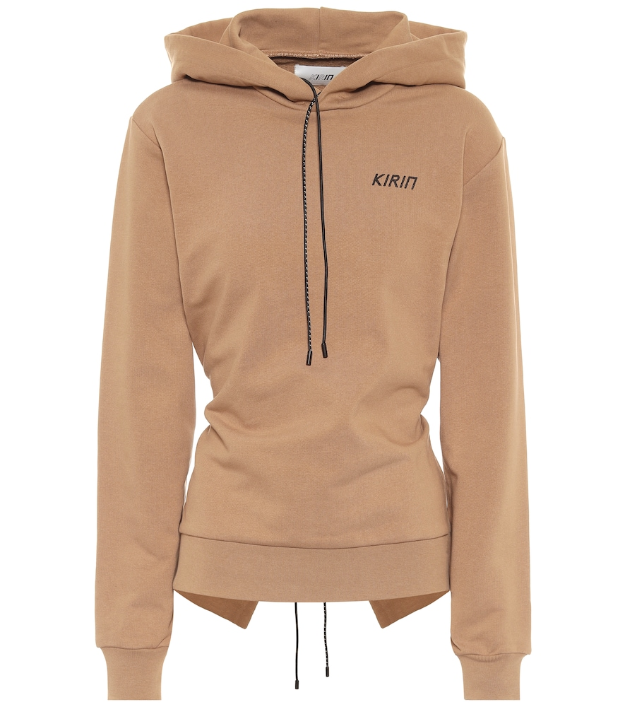 Open-back cotton hoodie
