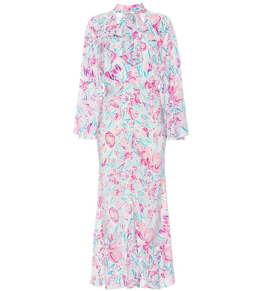Robe Amel imprimée en soie