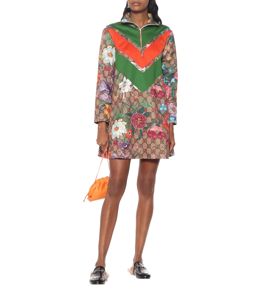 GG Flora technical-jersey dress by Gucci