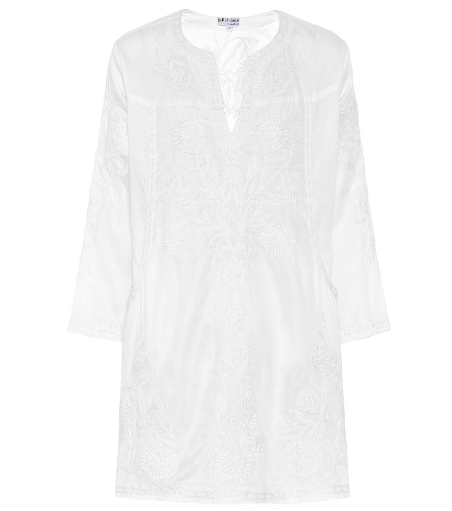 Cotton-chambray minidress
