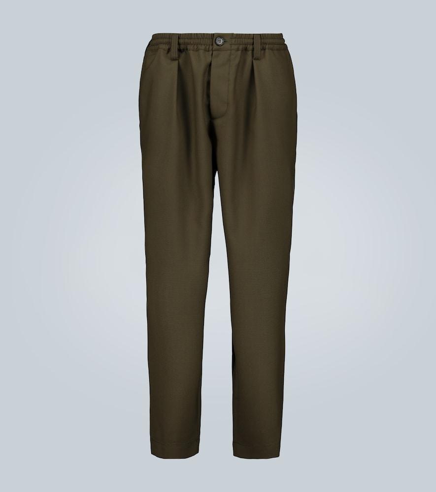 Pantalon raccourci en laine - Marni - Modalova