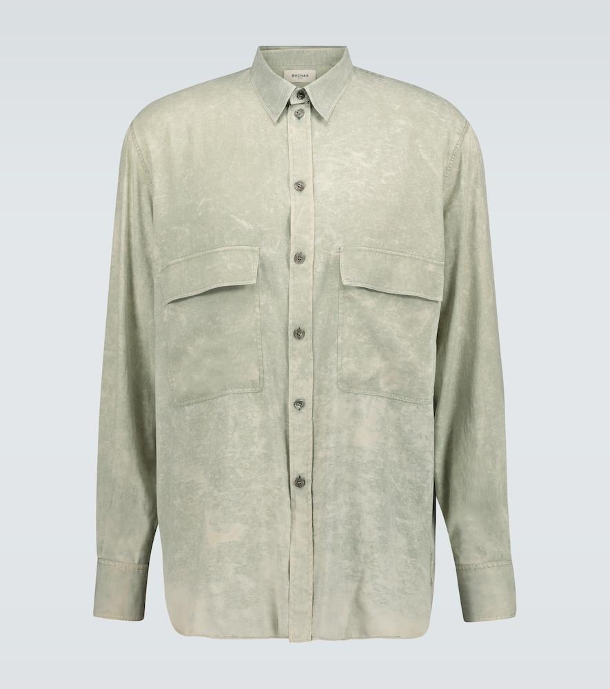 Chemise Quartilla à manches longues en soie