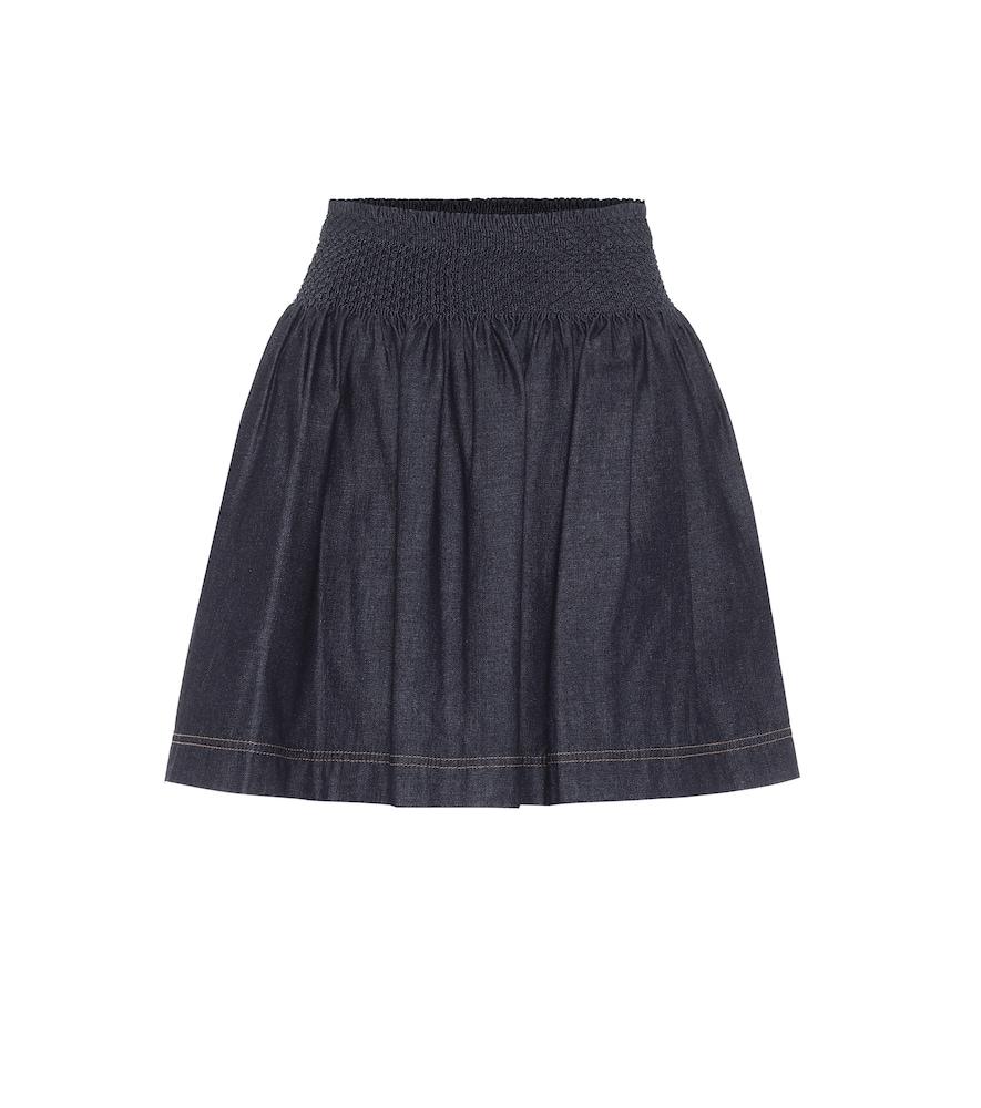 Mini-jupe en coton - Fendi - Modalova
