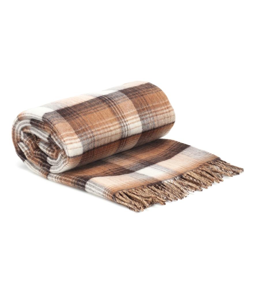 GG reversible wool blanket scarf