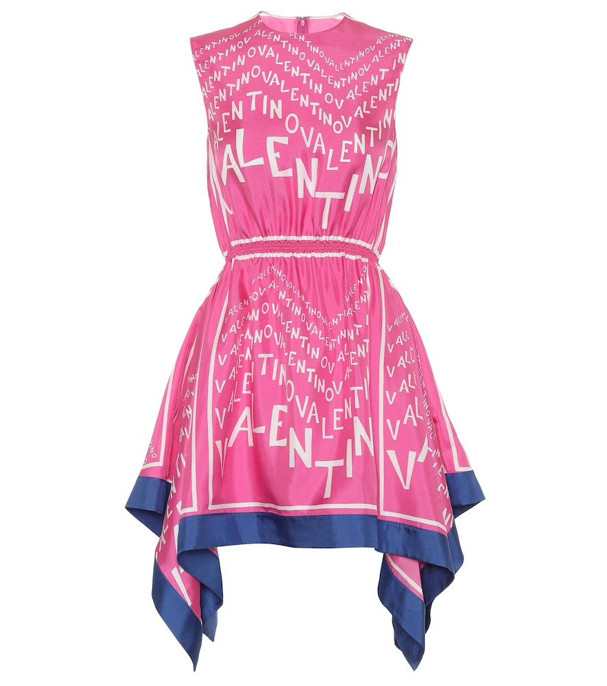 Exclusive to Mytheresa - Valentino printed silk-twill minidress